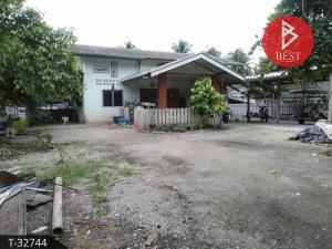 For SaleHouseRatchaburi : Single-storey house for sale, on the road, area 3 ngan, 50 sq.wa., Pak Tho, Ratchaburi.