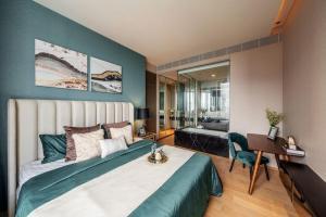 For RentCondoSilom, Saladaeng, Bangrak : For Sale and Rent [Saladaeong One, top SC asset], luxury room, never rented.