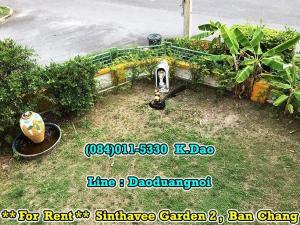 เช่าบ้านระยอง : Sinthavee Garden 2 Ban Chang Corner House for Rent 16,000 Baht 3 Bedrooms 3 Bathrooms