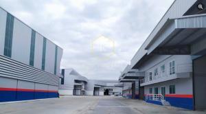 For RentWarehouseSamrong, Samut Prakan : Warehouse/factory for rent with 2-storey office, many sizes to choose from, Bang Sao Thong District, Samut Prakan