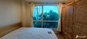 For RentCondoThaphra, Wutthakat : Casa Condo Ratchada Thapra, corner room, next to BTS Talat Phlu, rent: 9,000 baht per month, 35 sqm.