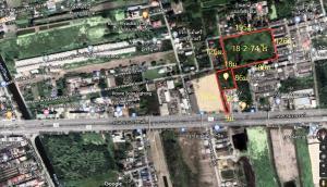For SaleLandNakhon Pathom, Phutthamonthon, Salaya : Land for sale 18.5 rai, next to Borommaratchachonnani Road, inbound, Phutthamonthon Sai 3 - 4.