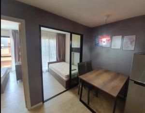 "For RentCondoRangsit, Patumtani : Kave condo """" 2 bedrooms, opposite Bangkok University, Rangsit, Pathum Thani!!️ Price 12,500 baht only, Building B, 5th floor."