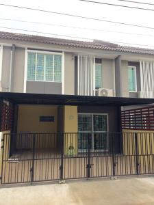 For RentTownhouseSamrong, Samut Prakan : Furnished townhome for rent - Pruksa Ville 87 Thepharak - 3 bedrooms, 110 sqm.