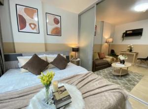 For SaleCondoRamkhamhaeng Nida, Seri Thai : Nice room, good location! Affordable price 1.68 million D Condo Ram Soi 64 near the Orange Line (S2207)