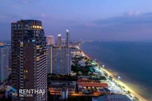 For SaleCondoPattaya, Bangsaen, Chonburi : Condo on Jomtien beach, direct sea view.