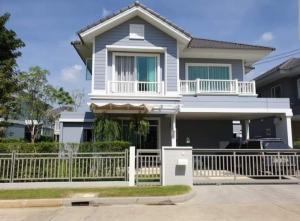 For RentHouseRamkhamhaeng,Min Buri, Romklao : 2 storey detached house for rent, Burasiri Village, Panya Intra, 4 bedrooms, 3 bathrooms, size 50 sq m., ready to move in.