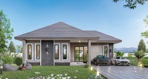 ขายบ้านเชียงใหม่ : C6MG100212 บ้านเดี่ยวชั้นเดียวสไตล์โมเดิร์น 3 ห้องนอน 2 ห้องน้ำ พื้นที่ 50 ตร.ว.