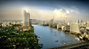 For SaleCondoWongwianyai, Charoennakor : The Residences At Mandarin Oriental, Bangkok, Ultimate Luxury condo on the Chao Phraya River, 2 bedrooms, 151.71 sq.m., price 71 million.