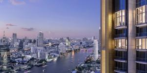 For SaleCondoWongwianyai, Charoennakor : The Residences At Mandarin Oriental, Bangkok, Ultimate Luxury condo on the Chao Phraya River, 2 bedrooms, 164.41 sq.m., price 74 million.