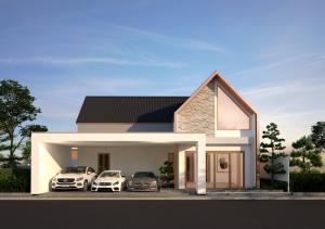 For SaleHousePattaya, Bangsaen, Chonburi : Luxury detached house for sale in Pattaya