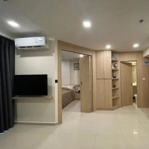 For RentCondoPattaya, Bangsaen, Chonburi : E122 Condo for rent at City Garden Tower, South Pattaya, 35 sq m. with washing machine.
