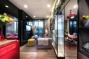 For SaleCondoSukhumvit, Asoke, Thonglor : Condo Oka Haus Sukhumvit 36 @BTS Thonglor 1-2 Bedrooms 1-2 Bathrooms High floor Clear View, Fully furnished