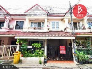 For SaleTownhouseRathburana, Suksawat : 2 storey townhouse for sale, Wiset Suk Nakhon 16 Village, Pracha Uthit 90, Samut Prakan.