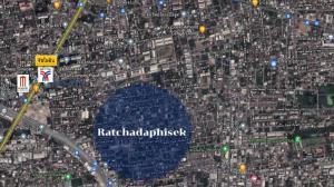 For SaleLandRatchadapisek, Huaikwang, Suttisan : Beautiful land for sale in the heart of Ratchadaphisek, Soi 42, near BTS Ratchayothin !!