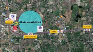 For SaleLandBangbuathong, Sainoi : Land for sale, corner plot, cheap price, size 3 rai, suitable for a condo