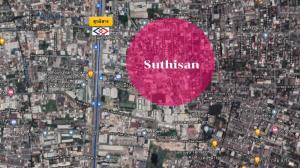 For SaleLandRatchadapisek, Huaikwang, Suttisan : Land for sale, beautiful plot, size 350 square meters, Sutthisan Winitchai Road!!