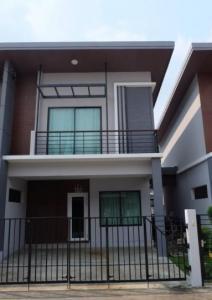 For SaleHouseSamrong, Samut Prakan : BS229 2 storey detached house for sale, 3 bedrooms, 2 bathrooms, Nature Trend Village, Srinakarin, Soi Subboonchai 28 Fully furnished, near BTS Srinakarin Mueang Samut Prakan