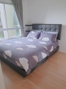 For RentCondoBangna, Lasalle, Bearing : For rent, separate bedroom, Lumpini Condo, Mega City, Bangna, 25 sqm., 1 bedroom, 3rd floor * beautiful room with washing machine