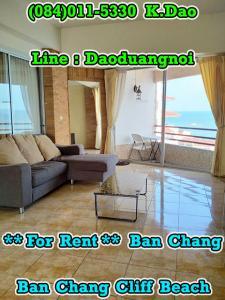 เช่าคอนโดระยอง : Ban Chang Cliff Beach *** Condo for Rent *** 7th Floor +++ Area 112.41 Sq.m. +++ Sea View @Ban Chang