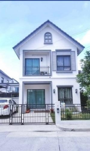 For RentHouseSamrong, Samut Prakan : Twin house for rent, Modi Villa, Bangna, near ABAC, 3 bedrooms, 121 sq m.