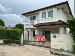 For SaleHouseBangbuathong, Sainoi : Detached house for sale, The Centro Rattanathibet  , very new house, ready to move-in , corner house