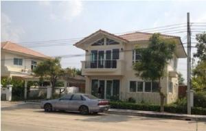 For RentHouseRamkhamhaeng,Min Buri, Romklao : 2 storey detached house for rent, no furniture, Supalai Park Ville, Rom Klao Road, near Kasem Bundit University (HH2-HN739)