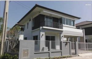 For RentHouseSamrong, Samut Prakan : RHT530 2 storey detached house for rent, behind the corner of Atro Lanta Resort Life Kanchanaphisek 53.