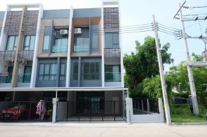 For SaleHouseNawamin, Ramindra : 3-storey townhome for sale, behind the corner, no furniture, The Vision Ladprao-Nawamin. Near Bodindecha 2 School (HH2-HN746)