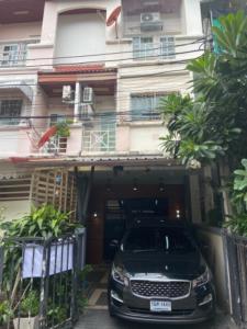 For RentTownhouseKaset Nawamin,Ladplakao : 🎉Sell/rent 3-storey townhome, Prinlak Village (Chaem Chan) along Urgent - Kaset Nawamin.