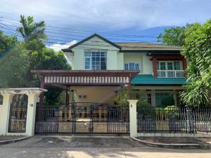 For SaleHouseEakachai, Bang Bon : Large-sized detached house for sale, behind the corner, the atmosphere in the project is quiet, shady, located in Ratchaphruek Village, Bang Bon 4 Road.