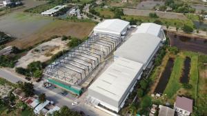 For RentWarehouseChengwatana, Muangthong : Warehouse for rent, 3,500 sq.m., next to the main road, Khlong Khoi Subdistrict, Pak Kret District, Nonthaburi Province