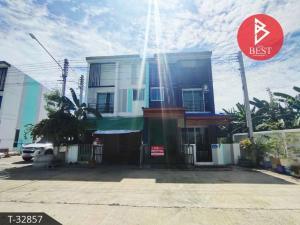 For SaleTownhouseMahachai Samut Sakhon : Townhouse for sale urgently. The Money Phanthuwong Village, Samut Sakhon
