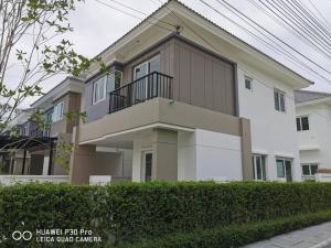 เช่าบ้านบางใหญ่ บางบัวทอง ไทรน้อย : ให้เช่าและขายบ้านแฝด 2 ชั้นสไตล์บ้านเดี่ยว #หมู่บ้านชวนชื่น พาร์ค กาญจนา-บางใหญ่ หลังมุม