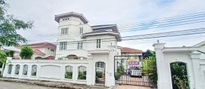 For SaleHouseLadkrabang, Suwannaphum Airport : Quick sale, 3-storey detached house, Muang Thong Garden Village. Phatthanakan Road Soi 65