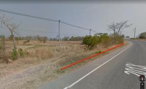 For SaleLandPhitsanulok : Land for sale on the road 2013, size 8 rai, Bo Pho Subdistrict, Nakhon Thai District, Phitsanulok Province, definitely worth the price!
