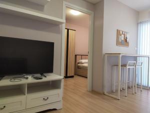 For RentCondoChengwatana, Muangthong : For rent, Plum Condo Chaengwattana, phase 2, fully furnished + electrical appliances + washing machine 7500.-/m.