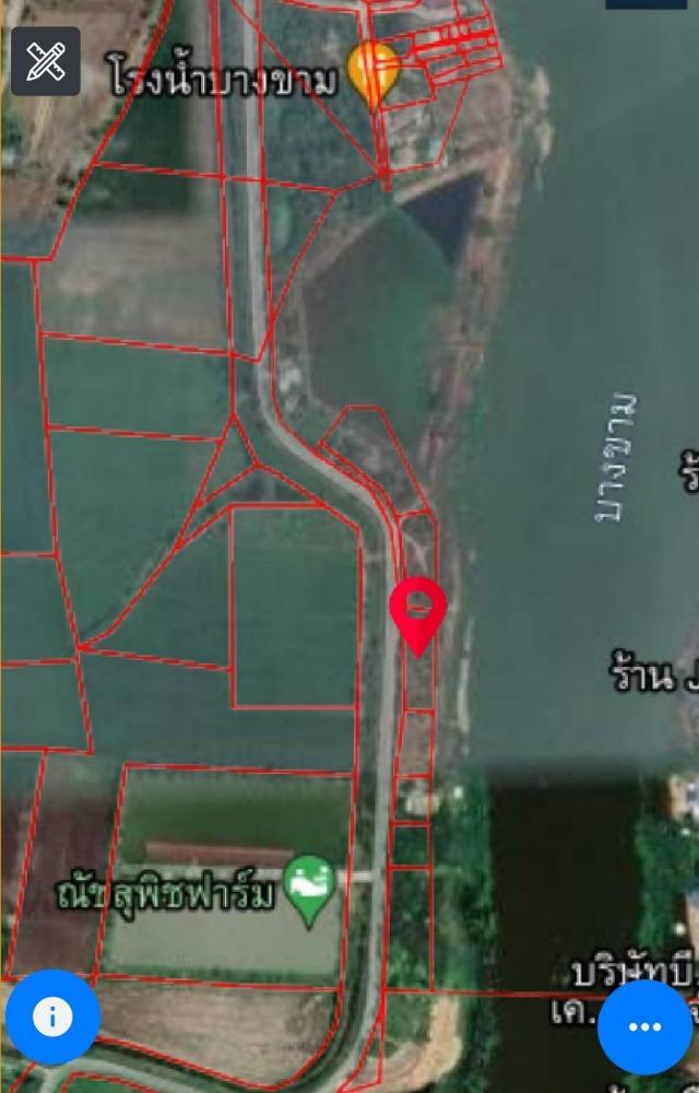 ขายที่ดินลพบุรี : ขายที่ดิน บ้านหมี่ ลพบุรี 3 ไร่ ด้านหน้า ติดถนนดำ ด้านหลัง ติดแม่น้ำบางขาม ขาย 4.95 ลบ.