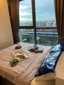 For RentCondoOnnut, Udomsuk : For rent, Ideo Mobi, Sukhumvit 81, next to BTS, size 22 sqm., 10th floor, pool view BTS On Nut[Code:A268]🔥🔥