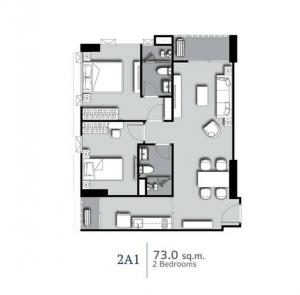 For SaleCondoSilom, Saladaeng, Bangrak : Quick down payment!!! Supalai Premier Si Phraya-Samyan, 2 bedrooms, corner room, high floor, special price