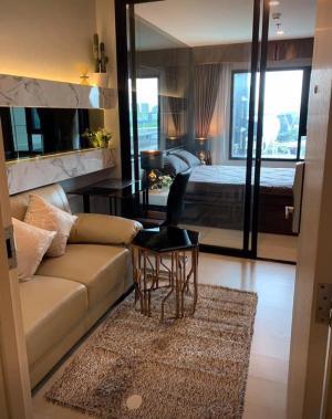 For RentCondoRama9, RCA, Petchaburi : Condo for rent: Life Asoke, beautiful room, fully furnished, pool view Convenient transportation (near MRT Phetchaburi ,Airport Link)