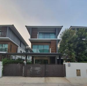 For SaleHouseLadprao101, The Mall Bang Kapi : H459-Twin house for sale, 3 floors, Supalai Essence Ladprao 107 project, central location. Close to BTS and amenities