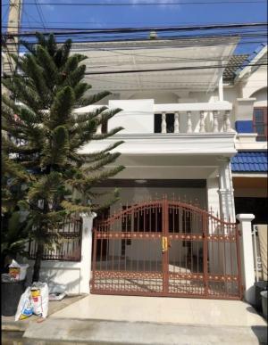 For SaleTownhouseRamkhamhaeng,Min Buri, Romklao : SE001 2 storey townhouse for sale, Ruen Ruedi Village, Soi Ramkhamhaeng 180, Ramkhamhaeng Road.