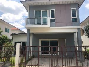 For RentHouseRangsit, Patumtani : Twin house for rent, 2 storey detached house style #can raise animals Supalai Ville Village, Khlong 5, Lam Luk Ka, Bueng Kham Phroi Subdistrict, Lam Luk Ka District, Pathum Thani Province