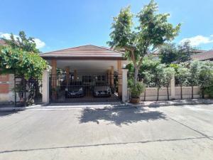 For SaleHouseRattanathibet, Sanambinna : Urgent sale, for sale by owner, 2 storey detached house with certified house, land 120 sq m., Nonnicha Village, Phra Nang Klao Bridge. Next to Rattanathibet Road Near the Purple Line 300 meters