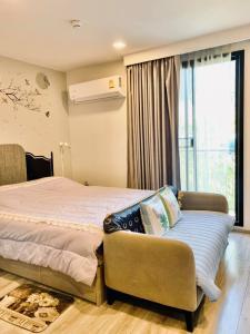 For RentCondoRatchathewi,Phayathai : For rent Maestro 14 Siam-Ratchathewi, 3rd floor, studio room, fully furnished, beautiful view, near BTS Ratchathewi