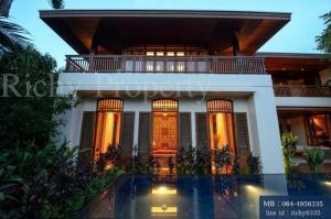 For SaleHouseSukhumvit, Asoke, Thonglor : Luxury house for sale in Sukhumvit with swimming pool, 1 rai over Sukhumvit Road, near BTS Phrom Phong, call 064-4956335