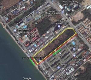 For SaleLandPattaya, Bangsaen, Chonburi : vacant land for sale Next to Jomtien Beach, 24-1-0 Rai