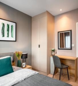 For RentCondoSukhumvit, Asoke, Thonglor : SK03229 For rent, The Tree Sukhumvit 71-Ekamai, size 50 sqm., 11th floor, corner room ** APL Ramkhamhaeng **