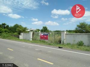 For SaleLandKanchanaburi : Land for sale with factory 10 rai 84.0 square wa, Kaeng Sian, Kanchanaburi.